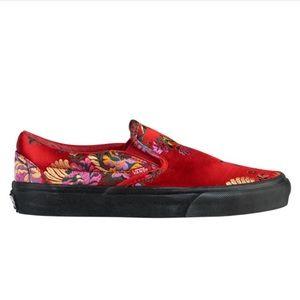 Women's Vans - Red Paisley Satin
